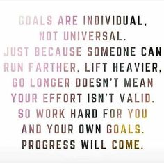 I've seen progress. I know what it looks like on me