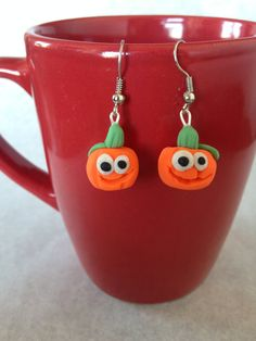 These are the Pump KINGS!  Pumpkin Earrings by EmilyTomasik on Etsy