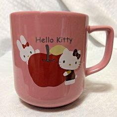 Hello Kitty Pink Ceramic Coffee Tea Hot Chocolate Cup Mug 12oz Sanrio 2007 BFF #SanrioCoLtd