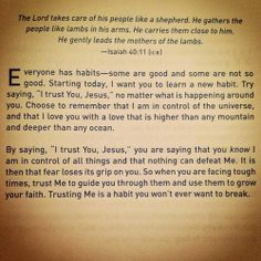 Learn a new habit of trusting God