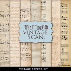 Far Far Hill - Free database of digital illustrations and papers: New Freebies Kit of Vintage Paper