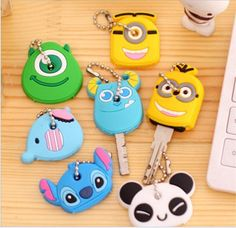 CUSHAWFAMILY cartoon Silicone Protective key Case Cover For key Control Dust Cover Holder Organizer Home Accessories Supplies Control Key, Key Covers, Key Case, Cute Cars, Car Keys, Diy Planters, Diy Home Improvement, Creative Home, Organizer