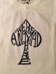We're All Mad Here t-shirt, freezer paper stencil Craft Patterns, Stitch Patterns, Alice In Wonderland Shirts, Freezer Paper Stenciling, Disney World Shirts, Lingerie, Diy Shirt, Needle And Thread, Shirt Outfit