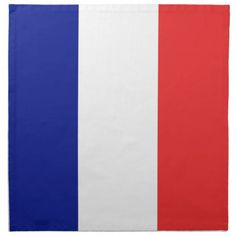 France flag French cloth napkin