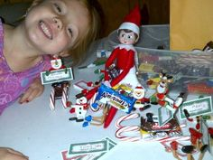 Suzy built a candy sled and ate some candy!  Elf on the shelf