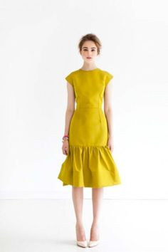 Stunning chartreuse. Kate Ermilio.