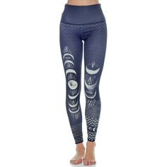 Onzie High Rise Graphic Legging ($74) ❤ liked on Polyvore featuring activewear, activewear pants and onzie
