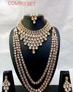 Women's Jewelry Sets, Bridal Jewelry Sets, Wedding Jewelry, Women Jewelry, Bridal Jewellery, Wedding Wear, Jewelry Necklaces, Kundan Jewellery Set, Latest Jewellery