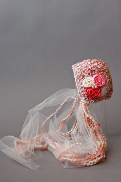 Crochet Newborn Bonnet Photography Prop by LoveYourLittleOne, $29.00