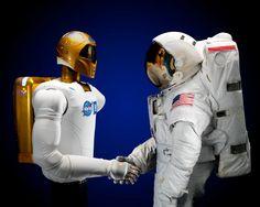Robonaut 2 meets astronaut