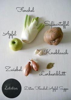 Happy Detox Day mit Rezept für Fenchel - Apfel - Suppe