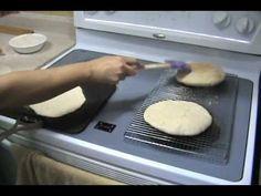 طريقه عمل الرغيف الشامى بدون أستعمال  الفرن white pita bread