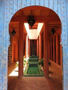 Entrada do restaurante do Hotel Le Jardin des Douars, localizado a 15 km de Essaouira, nas redondezas de Marrakech