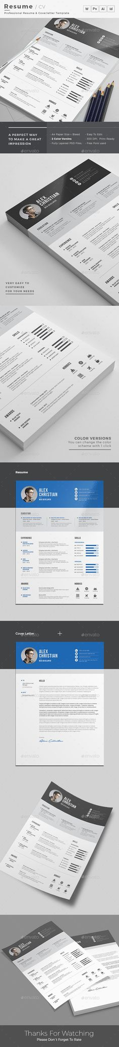 Clean Resume Word Template. Available in all format – Photoshop, Illustrator, Indesign & MS Word. Elegant page designs are easy to use and customize, so you can quickly tailor-make your resume for any opportunity and help you to get your job.