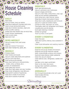 printable house cleaning schedule chore charts and planners grocery list budget sheets the house cleaning schedule is a little over the top