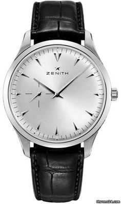 Zenith Elite Ultra Thin ad: $3,915 Zenith Elite: Ultra Thin - 03.2010.681/01.c493 Ref. No. 03.2010.681/01.C493; Steel; Automatic; Condition 0 (unworn); Year 2017; New; With box;