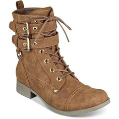 G by Guess Bell Lace-Up Combat Boots ($79) ❤ liked on Polyvore featuring shoes, boots, ankle booties, honeyglaze, army boots, g by guess shoes, lacing combat boots, side zip boots and laced boots