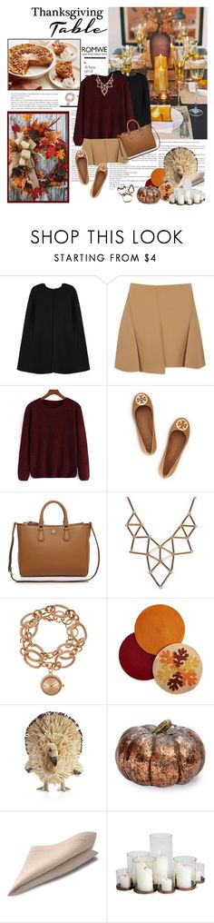 """Giving Thanks"" by ginny-col ❤ liked on Polyvore featuring Alexander Wang, Tory Burch, Chicnova Fashion, Louis Arden, Homewear, Crate and Barrel, Improvements, Sur La Table, romwe and thanksgiving"