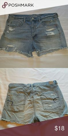 """American Eagle Cutoff Denim Shorts Light wash. Worn twice, like new condition. 3"""" inseam. American Eagle Outfitters Shorts Jean Shorts"""