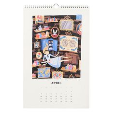2016 Alice In Wonderland Calendar | April