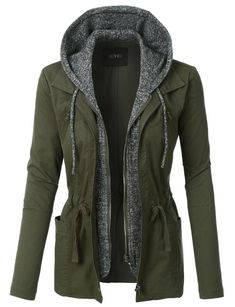 lightweight anorak jacket women, military anorak jacket women, safari jacket women, anorak with hood, olive anorak Mode Outfits, Fall Outfits, Casual Outfits, Fashion Outfits, Womens Fashion, Jackets Fashion, Workwear Fashion, Mode Steampunk, Anorak Jacket