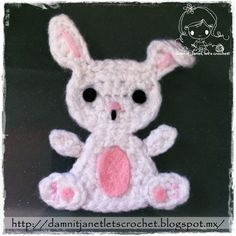 damn it Janet, let's crochet!: Bunny Appliqué