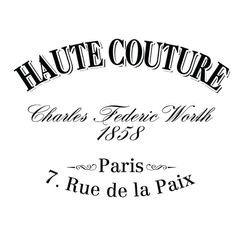 Water Decal Print transfer to furniture, wood or paper – Vintage French Advert: Haute Couture.    WHAT IS WATER SLIDE DECAL?    Water Decal is a