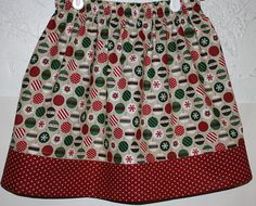 For Christmas Skirt    Size 2 to 8