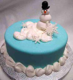 Funny Snowman Cake