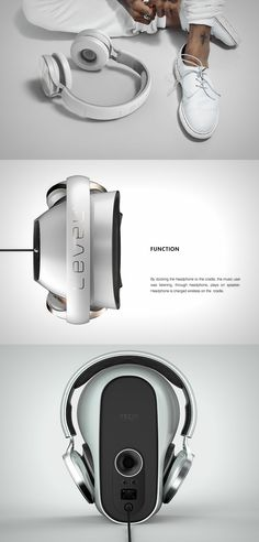 A three-in-one! Ive officially hit crazy with the Level Headphones. Read more at Yanko Design Techno Gadgets, High Tech Gadgets, Electronics Gadgets, Technology Gadgets, Music Speakers, Audio Sound, Best Headphones, Gadget Gifts, Email Design