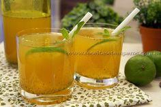 Receita de Chá verde gelado com limão, hortelã e mel passo-a-passo. Acesse e confira todos os ingredientes e como preparar essa deliciosa receita!
