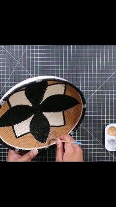 Diy Crafts For Home Decor, Diy Crafts Hacks, Diy Projects, Dollar Tree Decor, Dollar Tree Crafts, Rope Decor, Diy Wall Decor, Wall Basket, Baskets On Wall