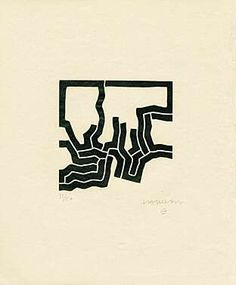 Eduardo Chillida uit Jorge Guillén - Más Allá, 1973 Abstract Words, Abstract Paintings, Contemporary Abstract Art, Art Plastique, Installation Art, Illustration Art, Illustrations, Art Drawings, Fine Art