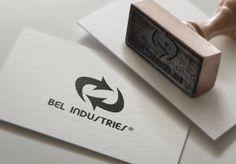 Stempel voorzien van het nieuwe logo van Bel Industries