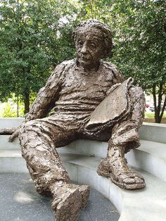 Albert Einstein sculpture in Washington, D. I shot a full roll of film at this location alone! Washington Dc Travel, Cincinnati, Nashville, Newport, Bronze, Public Art, Oh The Places You'll Go, Monuments, Museums