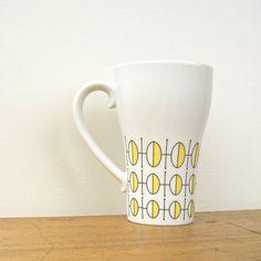Geometric Mod Vintage Stylecraft Coffee Cup by fifthseason on Etsy