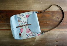 Hand bag, messenger bag, floral bag, leather, upcycled recycled repurposed, shoulder bag, upcycled bag, Christmas gift, blue bag by EcoThreadCo on Etsy