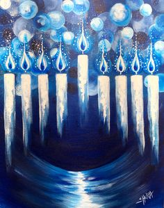 How to paint a Hanukkah Menorah step by step Acrylic painting tutorial for begin. How to paint a Hanukkah Menorah step by step Acrylic painting tutorial for beginners by the Art She Hanukkah For Kids, Feliz Hanukkah, Hanukkah Menorah, Christmas Hanukkah, Happy Hanukkah, Hannukah, Hanukkah Cards, Xmas, Jewish Crafts