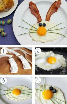 Create a FUN breakfast for the kids during Easter, Very easy to make & will surely put a smile on the little ones faces.: Create a FUN breakfast for the kids during Easter, Very easy to make & will surely put a smile on the little ones faces. Easter Dinner, Easter Brunch, Easter Party, Hoppy Easter, Easter Eggs, Easter Food, Easter Stuff, Cute Food, Good Food