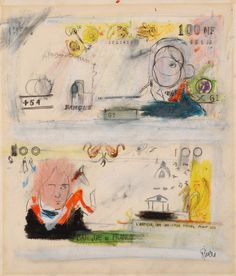 Larry Rivers Great drawings: take out a banknote from your wallet and redraw the elements you like