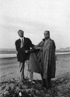 Paul Klee (à droite) et Vassily Kandinsky (à gauche) enseignaient la couleur à Dessau.