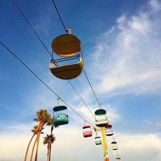 Santa Cruz CA: by quistwe Beach Boardwalk, California Beach, Amusement Park, Gliders, Sky, Instagram Posts, Travel, Santa Cruz, Heaven