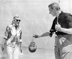 28/03/1961 sur une plage en Floride - Divine Marilyn Monroe