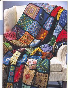 Delicadezas en crochet Gabriela: Crochet afgano