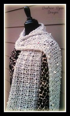 Northern Nights Scarf, free crochet pattern by Beatrice Ryan Designs