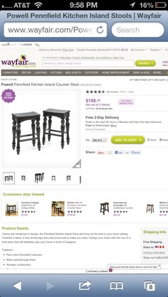 I like the legs on these stools