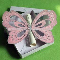 Personalizado exclusivo moderno precioso de color rosa de la mariposa parte invitaciones - - t192-Suministros Bodas-Identificación del producto:472031551-spanish.alibaba.com