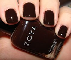 Zoya Angelina Very Dark And Saturated Vampy Blackened Chocolate Brown Creme The Best Nail Polishes