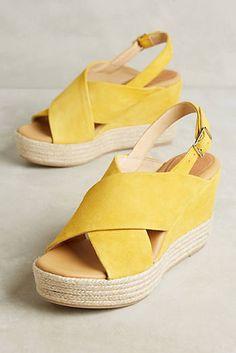 575fcb42f7bdc Matt Bernson Capri Wedge Sandals Yellow Sandals, Yellow Shoes, Wedge Shoes,  Wedge Sandals