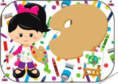 Olá queridos amigos ( as ) e seguidores do nosso Blog . Hj temos mais um Kit feito especialmente por mim ( Gabi Bonfim )p ajudar a colori... Art Themed Party, Art Party, Party Themes, Party Ideas, 4th Birthday, Birthday Parties, Head Start, Cute Cartoon, Pop Art